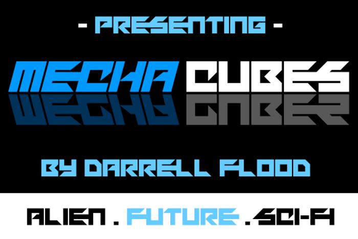 Mechacubes Font poster