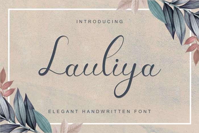 Lauliya Demo Font poster