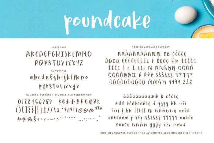 poundcake Font poster