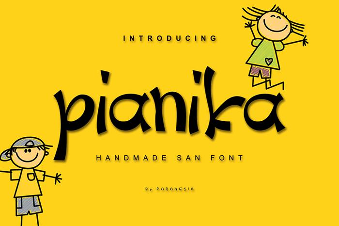Pianika Font poster