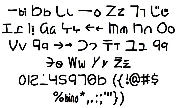 Yoshinese Font poster