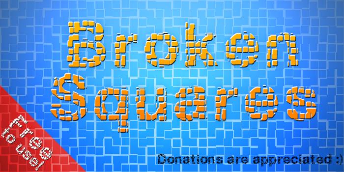 Broken Squares Font poster