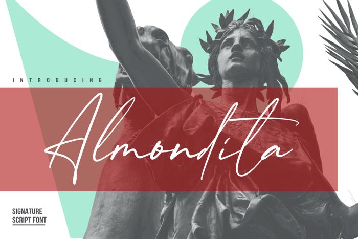Almondita Font poster