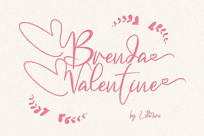 Brenda Valentine Font poster
