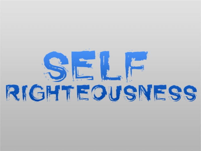 Self Righteousness Font poster
