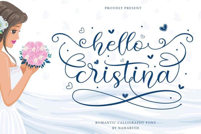 Hello Cristina Font poster