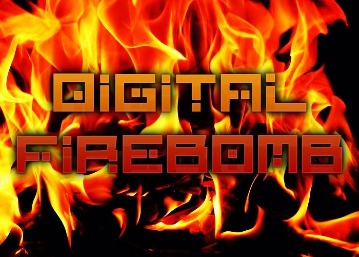 Digital Firebomb Font poster
