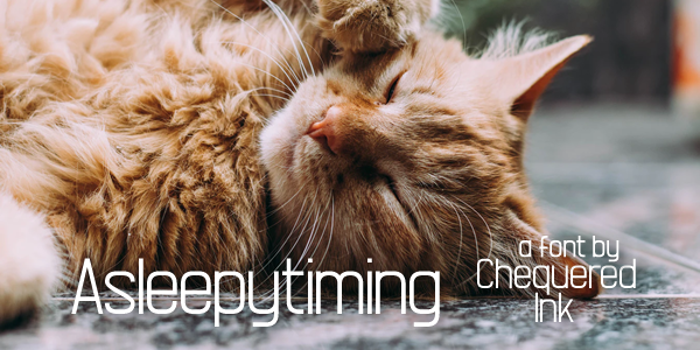 Asleepytiming Font
