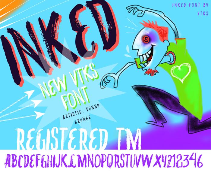 VTKS INKED Font poster