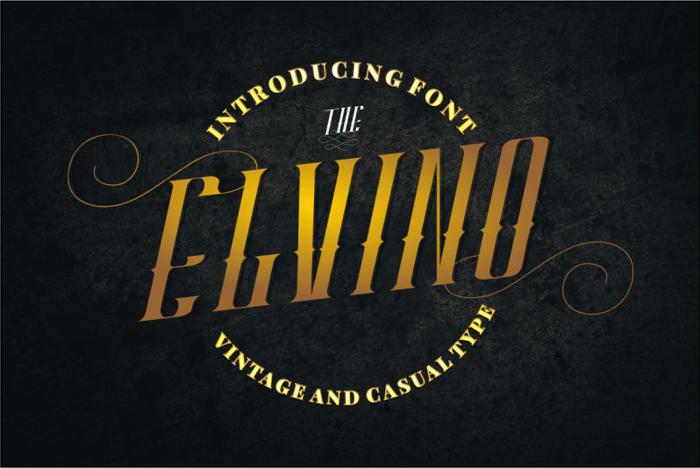 ELVINO Font poster