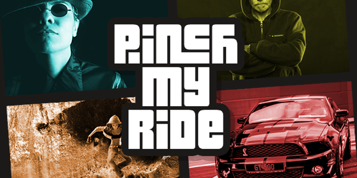 Pinch My Ride Font poster