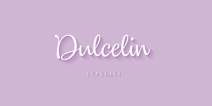 Dulcelin Font poster