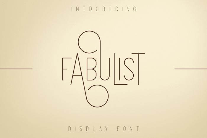 Fabulist Font poster