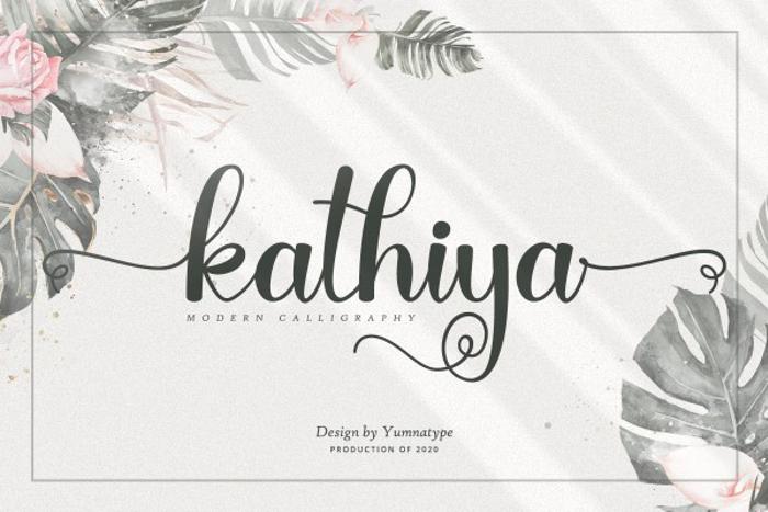 Kathiya Font poster