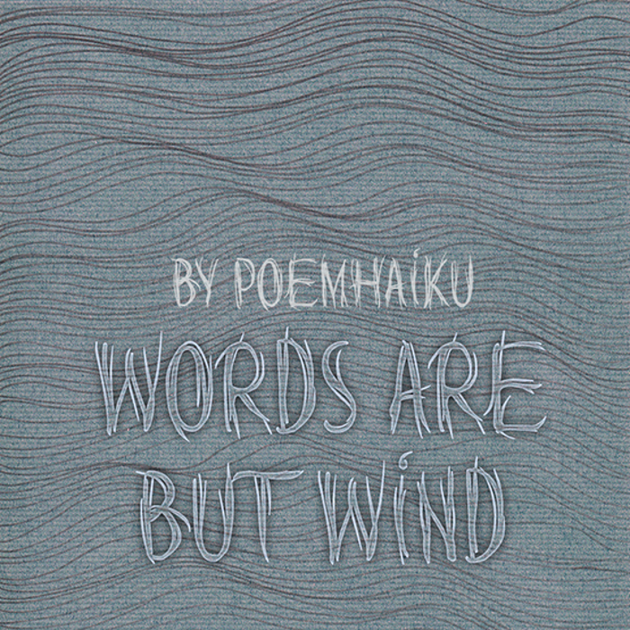 Words are but wind Font poster