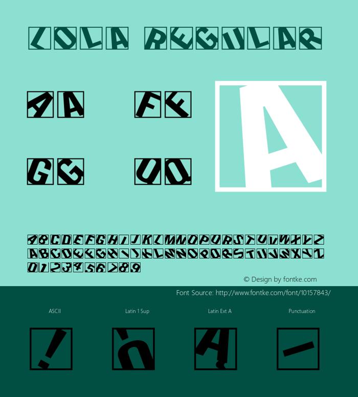Lola Font poster