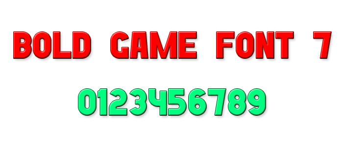 Bold Game Font 7 poster