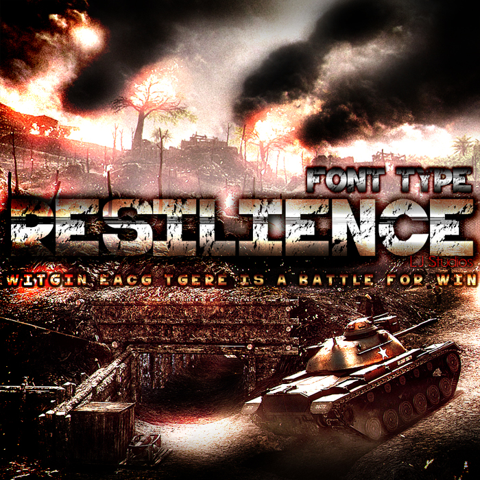 resilience Font poster