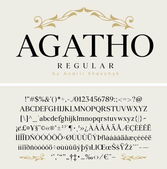 Agatho Font poster