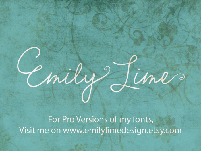 Emily Lime Words Font poster