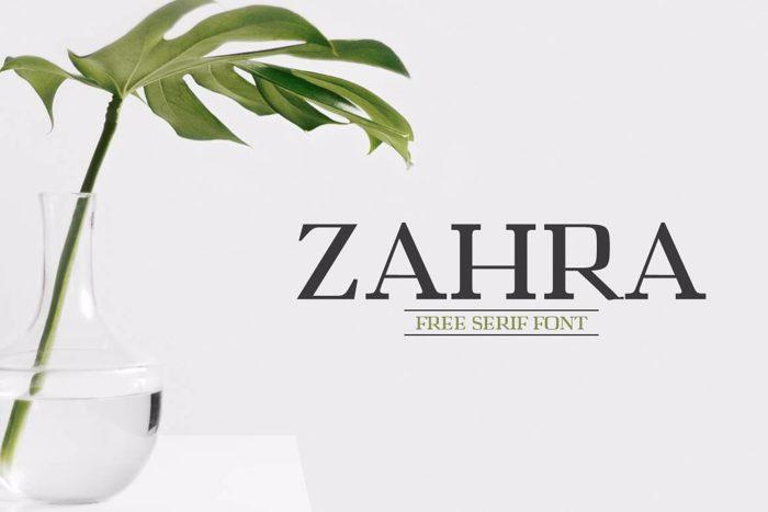 Zahra Font poster