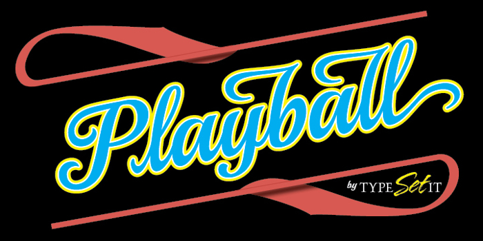 Playball Font poster