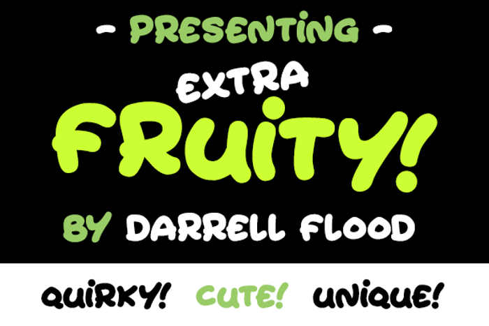 Extra Fruity Font poster