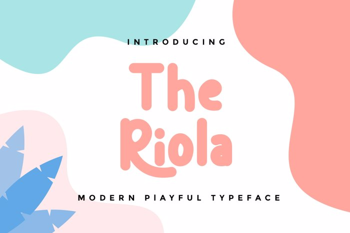 The Riola Font poster