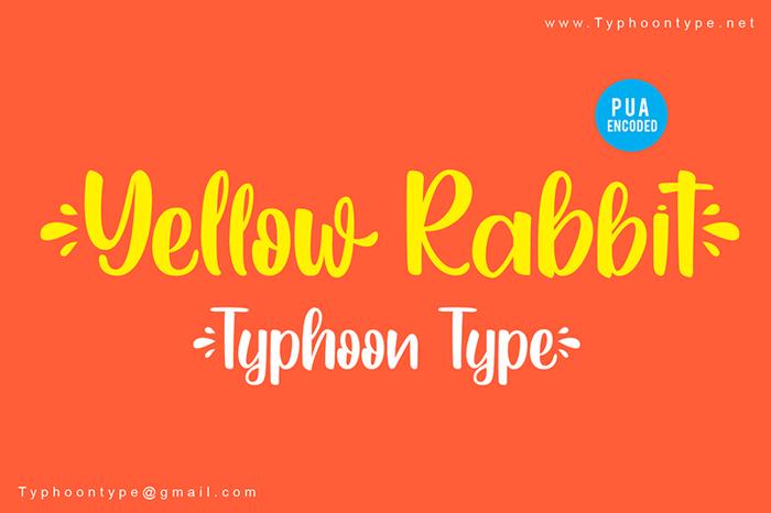 Yellow Rabbit Font poster