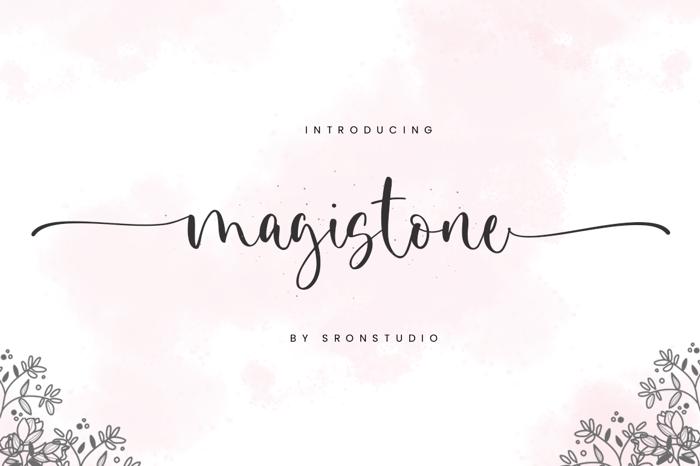 Magistone Font poster