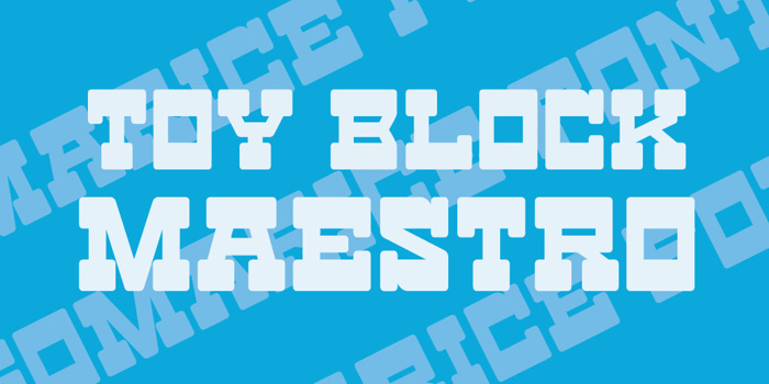 Toy Block Maestro Font poster