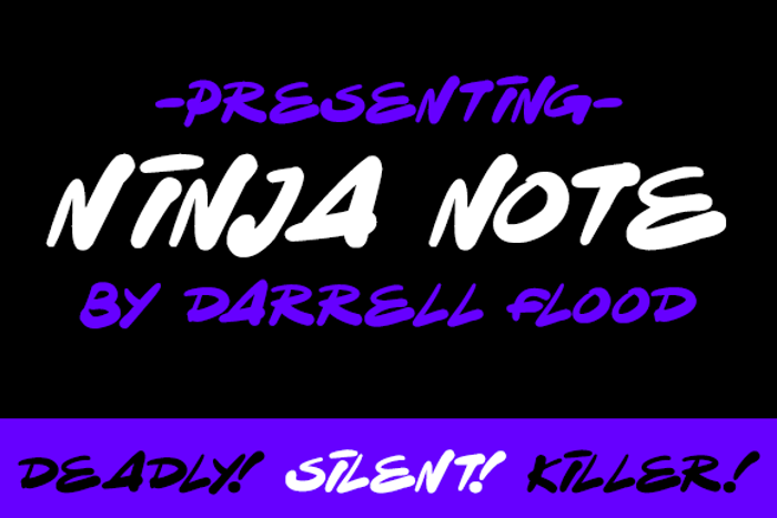 Ninja Note Font poster