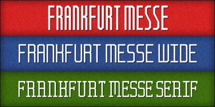 Frankfurt Messe Font poster