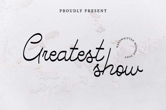 Greatest Show Font poster