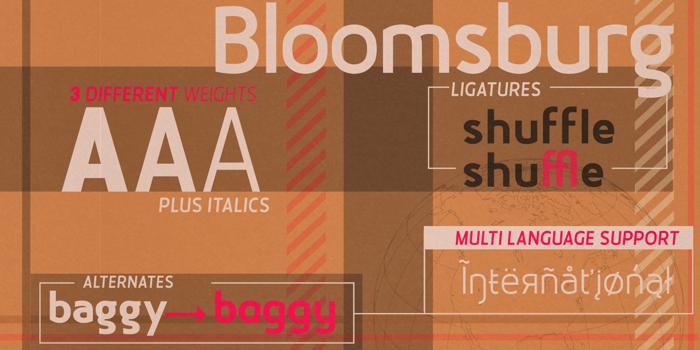 Bloomsburg Font poster