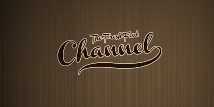Channel Font poster