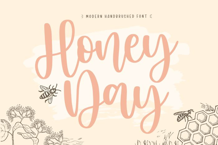 Honeyday Font poster