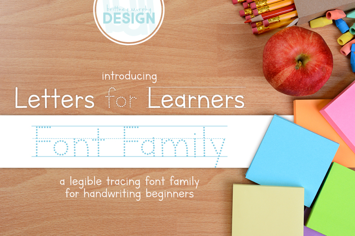 Letters for Learners Font poster