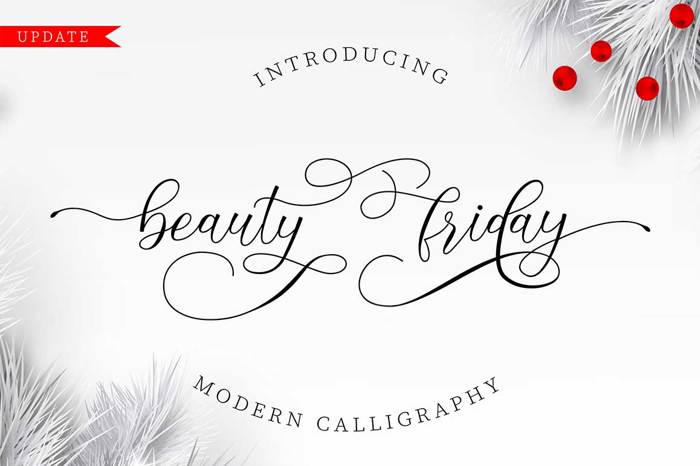 beautyfriday Font poster