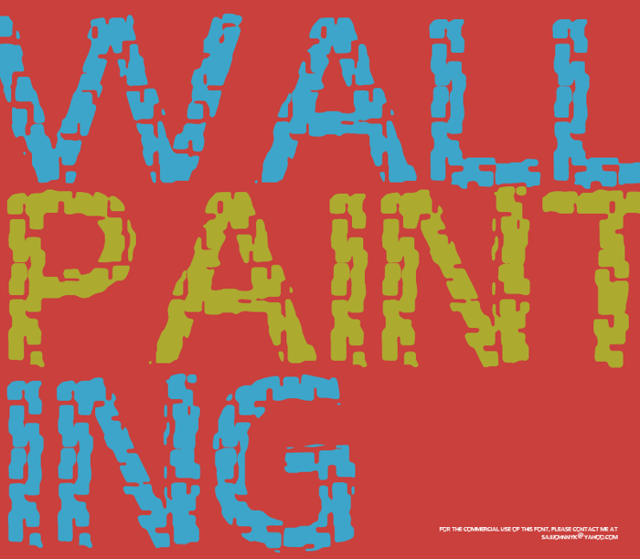 WALL PAINTING Font poster