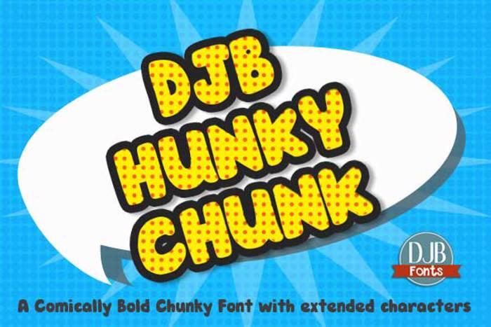 DJB HUNKY CHUNK Font poster