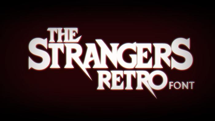 Strangers Retro Font poster