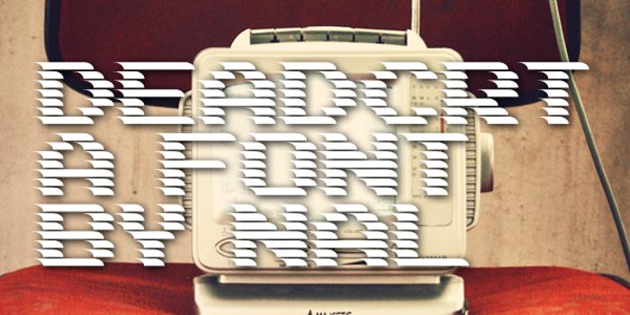 DEADCRT Font poster
