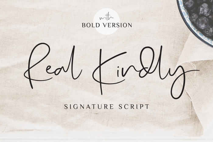 Real Kindly Font poster