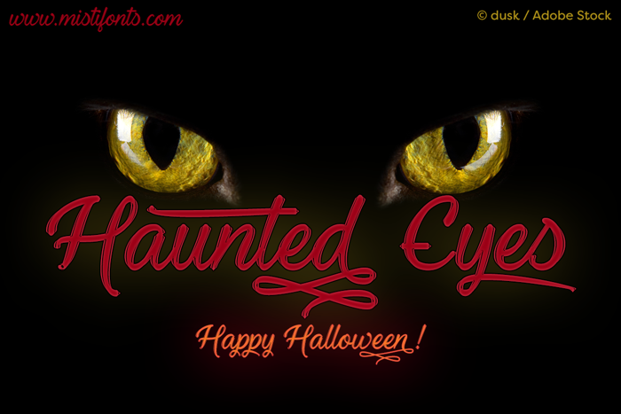 Haunted Eyes Font poster