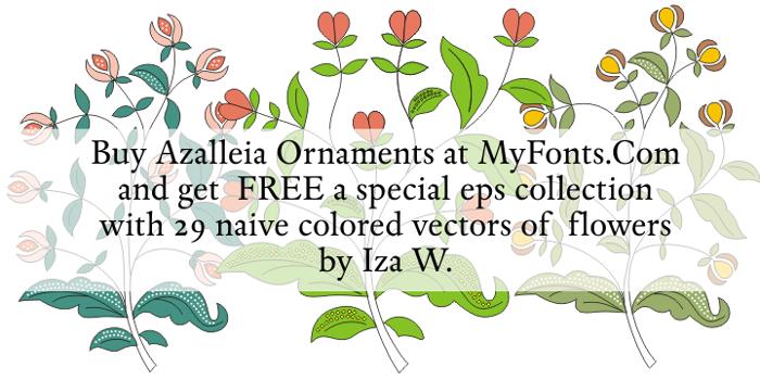 Azalleia Ornaments Font poster