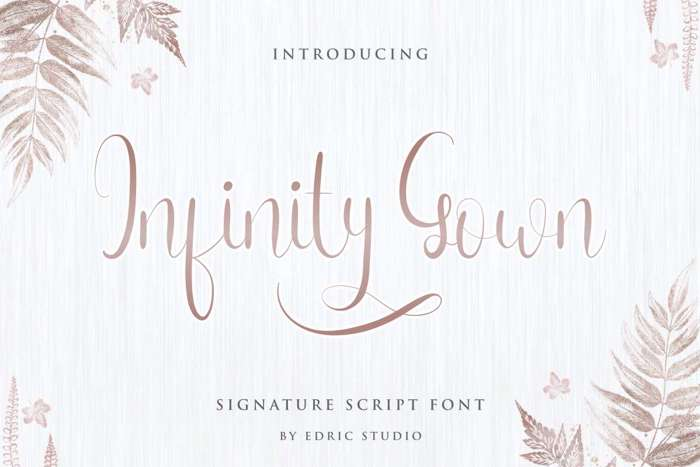 Infinity Gown Font poster