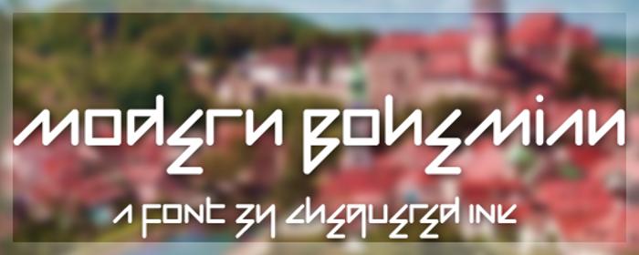 Modern Bohemian Font poster