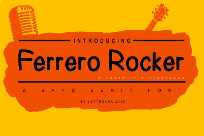 Ferrero Rocher Font poster