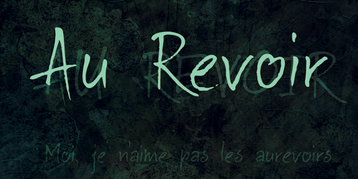 DK Au Revoir Font poster